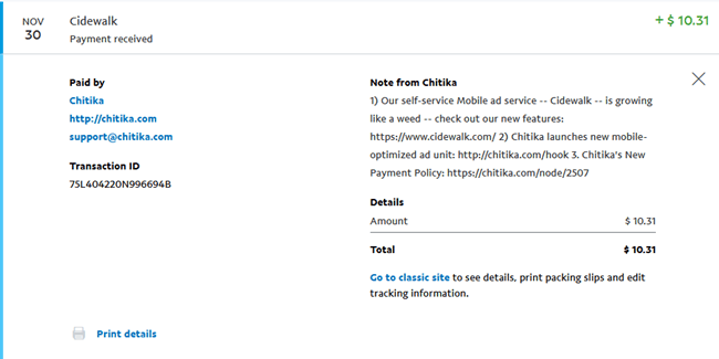 chitika payment proof